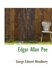 Cover of: Edgar Allan Poe by George Edward Woodberry