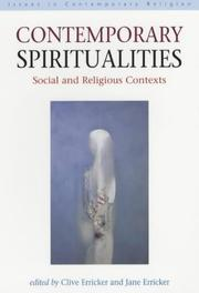 Cover of: Contemporary Spiritualities | Clive Erricker