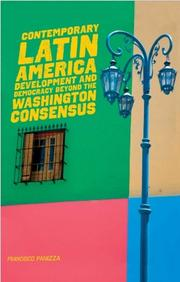 Cover of: Contemporary Latin America by Francisco Panizza