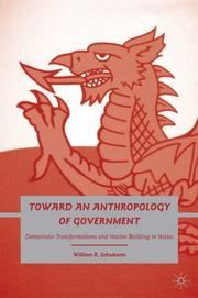 Cover of: Towards an anthropology of government: democratic transformations and nation building in wales | William R. Schumann