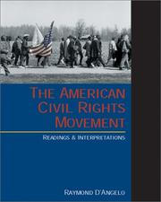 Cover of: The American Civil Rights Movement | Raymond D'Angelo