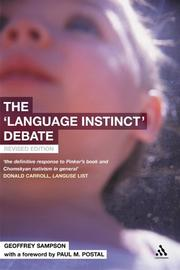 Cover of: The 'Language Instinct' Debate | Geoffrey Sampson