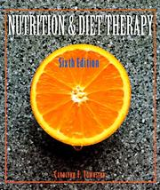 Cover of: Nutrition and diet therapy by Carolynn E. Townsend