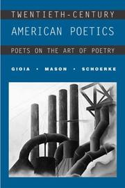 Cover of: Twentieth-Century American Poetics by Dana Gioia