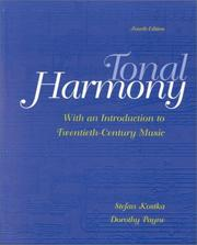 Cover of: Tonal Harmony, With an Introduction to Twentieth-Century Music by Stefan Kostka