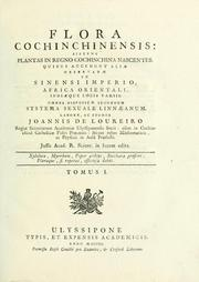Cover of: Flora Cochinchinensis | João de Loureiro