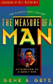 Cover of: The measure of a man | Gene A. Getz