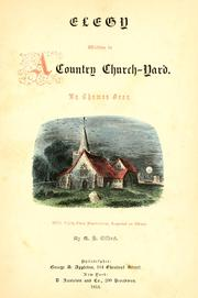 Cover of: Elegy written in a country churchyard by Thomas Gray
