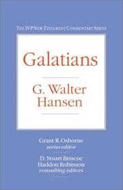 Cover of: Galatians by G. Walter Hansen