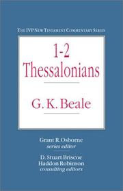 Cover of: 1-2 Thessalonians (IVP New Testament Commentary Series) | G. K. Beale