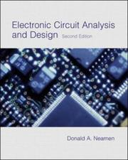Cover of: Electronic Circuit Analysis with CD-ROM with E-text | Donald Neamen
