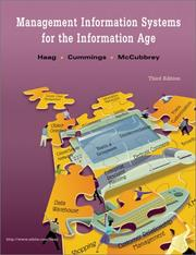Cover of: Management Information Systems for the Information Age by Haag. Cummings. McCubbrey.
