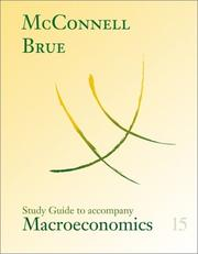 Cover of: Study Guide for use with Macroeconomics | MCCONNELL