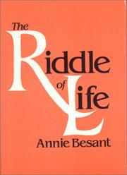 Cover of: Riddle of Life | Annie Wood Besant