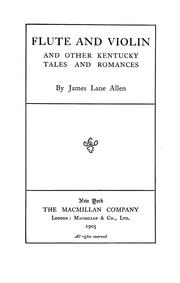 Cover of: Flute and violin | James Lane Allen