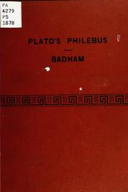 Cover of: Philebus | Plato