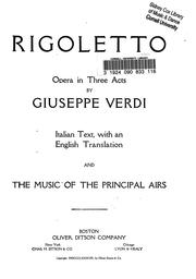 Cover of: Rigoletto by Giuseppe Verdi