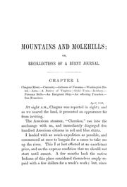 Cover of: Mountains and molehills by Frank Marryat