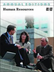 Cover of: Annual Editions Human Resources 2002-2003 by Fred H. Maidment