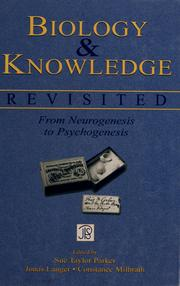 Cover of: Biology and knowledge revisited | Jean Piaget Society. Meeting