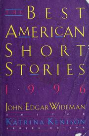 Cover of: The best American short stories, 1996 |