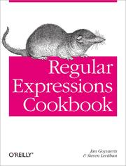Cover of: Regular Expressions Cookbook | Jan Goyvaerts, Steven Levithan