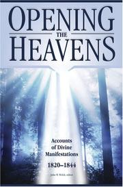 Cover of: Opening the Heavens by John W. Welch