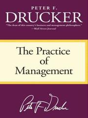 Cover of: The Practice of Management by Peter F. Drucker