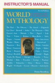 Cover of: Instructor's Manual for World Mythology | Donna Rosenberg