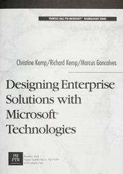 Cover of: Designing enterprise solutions with Microsoft technologies | Christine Kemp