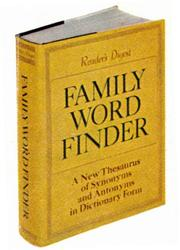 Cover of: Family word finder | Reader's Digest