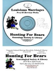 Cover of: Early Louisiana Marriage Records by Nicholas Russell Murray