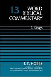 Cover of: Word Biblical Commentary Vol. 13, 2 Kings by T. R. Hobbs