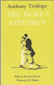 Cover of: The duke's children | Anthony Trollope