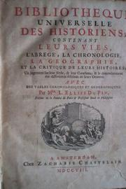 Cover of: Bibliothèque universelle des historiens by Louis Ellies Du Pin