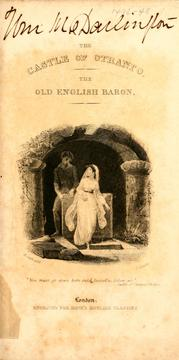 Cover of: The Castle of Otranto by Horace Walpole