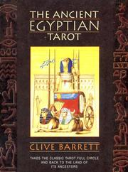 Cover of: The Ancient Egyptian Tarot (An Aquarian Book) by Clive Barrett