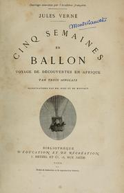 Cover of: Cinq semaines en ballon by Jules Verne