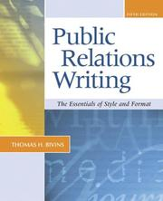 Cover of: Public Relations Writing | BIVINS