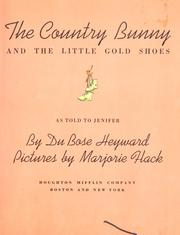 Cover of: The country bunny and the little gold shoes | DuBose Heyward