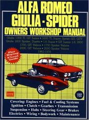 Cover of: Alfa Romeo Giulia - Spider Owners Workshop Manual 1962-1978 (Autobook Series of Workshop Manuals) | R. M. Clarke