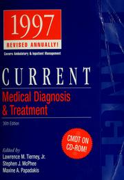 Cover of: Current medical diagnosis & treatment, 1997 | Lawrence M. Tierney