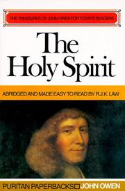 Cover of: Holy Spirit by John Owen