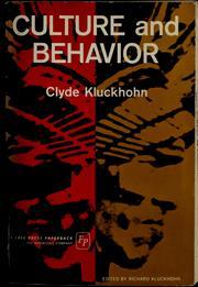 Culture and behavior