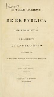 Cover of: De republica by Cicero