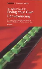 "Cover of: ""Which?"" Guide to Doing Your Own Conveyancing (""Which?"" Consumer Guides) 