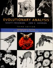 Cover of: Evolutionary analysis | Freeman, Scott