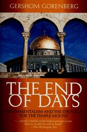 Cover of: The end of days | Gershom Gorenberg