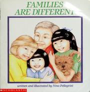 Cover of: Families are different | Nina Pellegrini