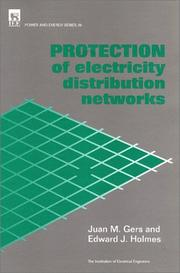 Cover of: Protection of Electricity Distribution Networks (IEE Power Series, No. 28) (Iee Power Series , No 28) by J.M. Gers